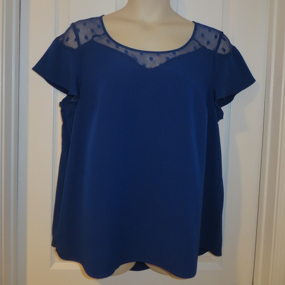 409bfcd74c3 Torrid Royal Blue Blouse with Lace Size 0